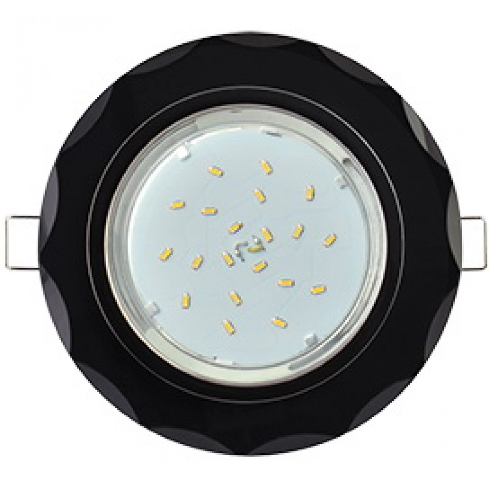 Ecola GX53 H4 5313 Glass Стекло Круг с вогнутыми хром - хром 38x126 (к+)