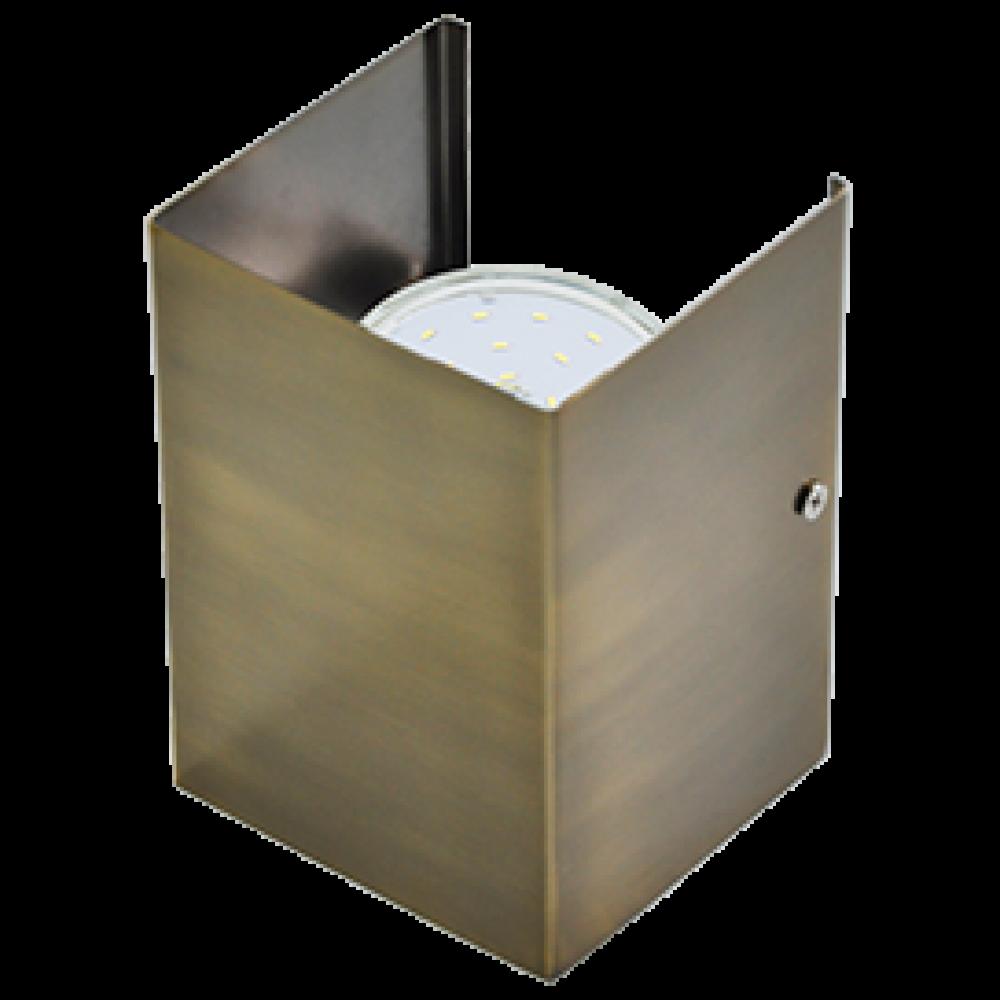 Ecola GX53-N52 светильник настенный бра прямоугольный черненая бронза 2* GX53 100х140х90 (1 из цв. у