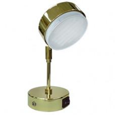 Ecola GX53 FT4173 cветильник поворотный на среднем кроншт. золото 210x80 [FG5341ECB.]