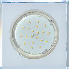 Ecola GX53 H4 5311 Glass Стекло Квадрат скошенный край Хром - хром (зеркальный) 38x120x120 (к+)