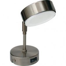 Ecola GX53 FT4173 светильник поворотный на среднем кроншт. сатин-хром 210х80