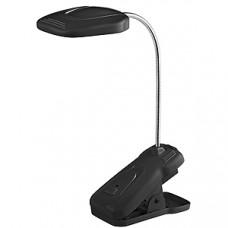 Светильник настольный аккумуляторный прищепка Эра NLED-420 1.5Вт 3000К черный (10)