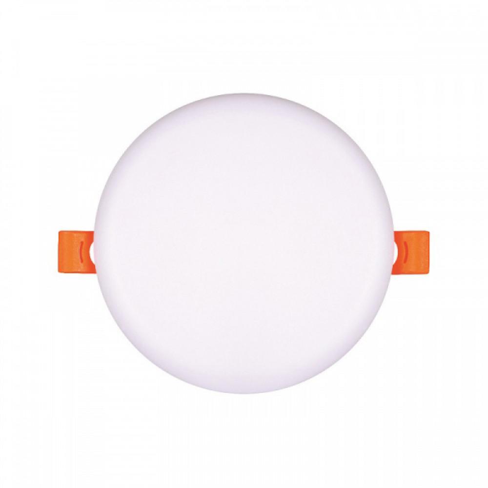 Ecola LED downlight встраив. Круглый безрамочный даунлайт с драйвером 9W 220V 6500K 90x30