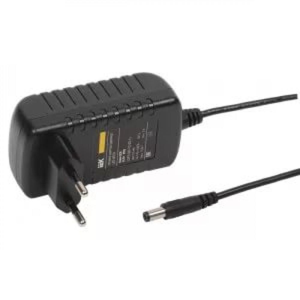 Драйвер 12В 24Вт IP20 78x43x30мм IEK на вилке jack 5.5мм (40)