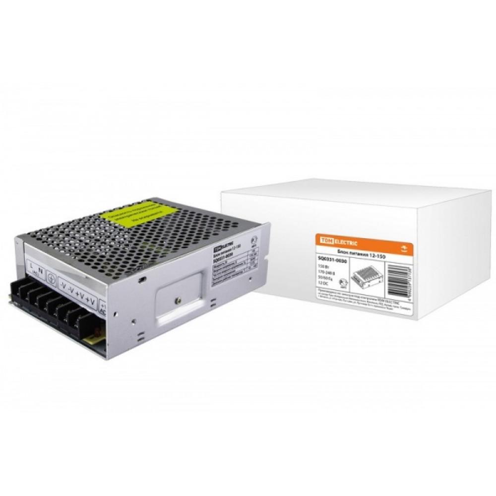 Драйвер 12В 150Вт IP20 160x100x48мм 14А TDM (20)