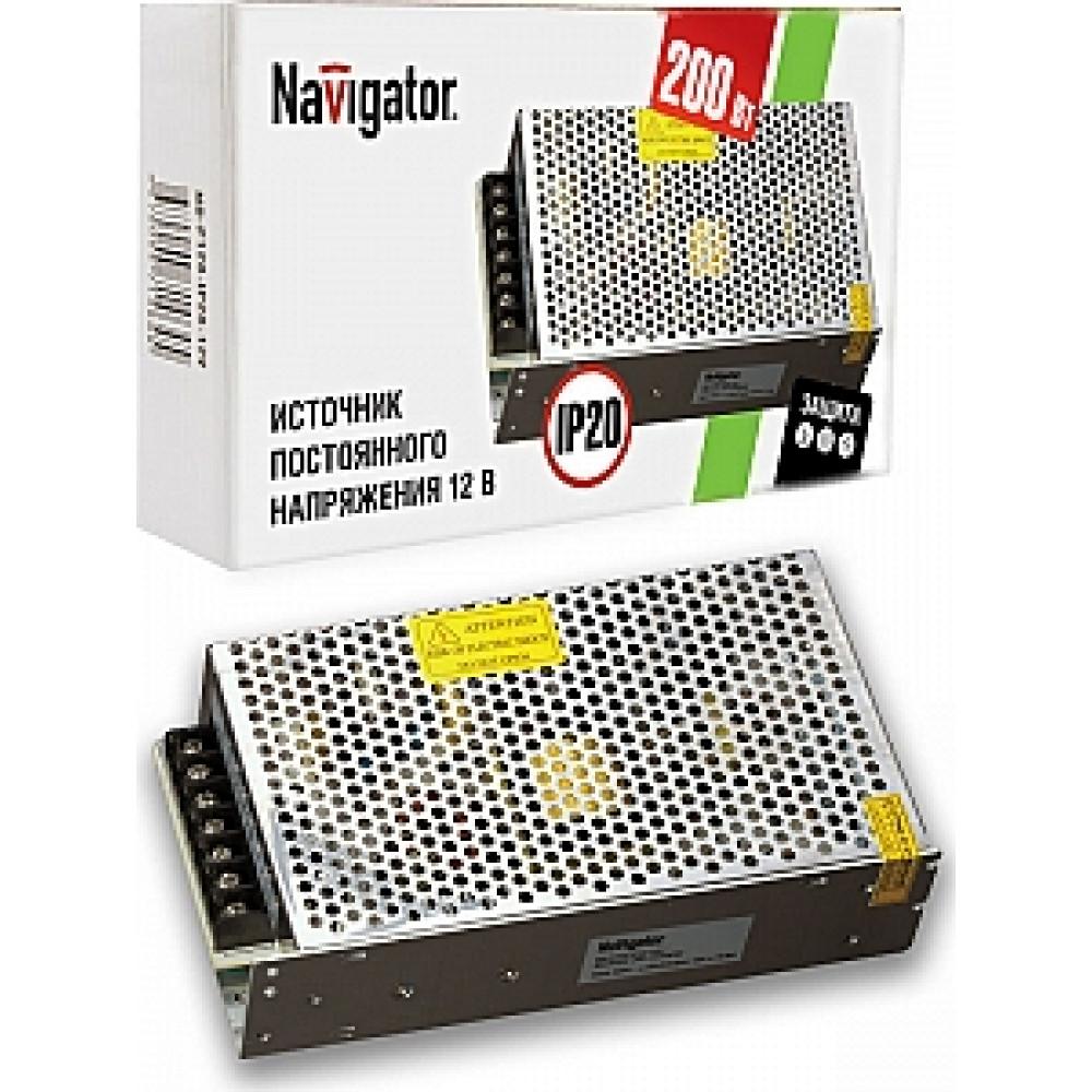 Драйвер 12В 200Вт IP20 222х68х40мм 16A Navigator ND-P200 (20)