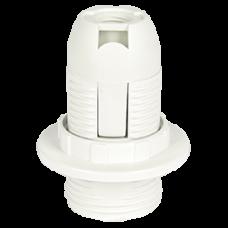 Патрон пластик подвесной кольцо Е14 белый Ecola (10)