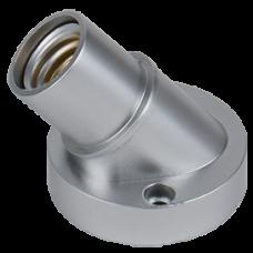 Патрон пластик настенный Е14 серебро Ecola