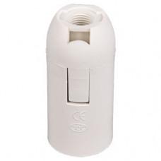 Патрон пластик подвесной Е14 белый Ecola (10)