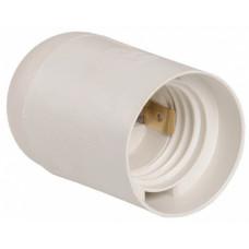 Патрон пластик подвесной Е14 белый IEK инд упак (50)