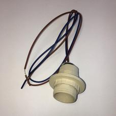 Патрон пластик подвесной кольцо Е14 белый