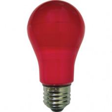 Лампа диодная A55 8Вт Е27 Ecola 360° красный (10/50)
