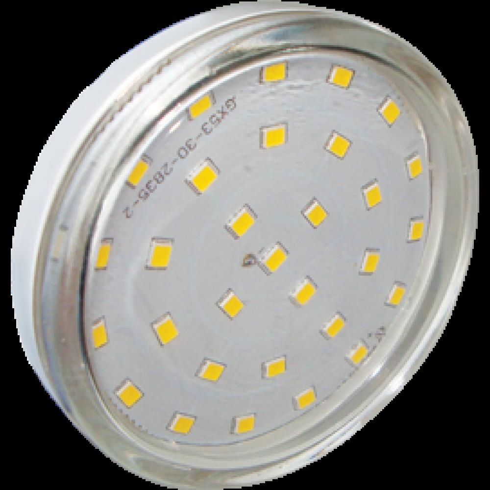 Лампа диодная GX53 8.5Вт 2800К Ecola прозр (10/100)
