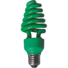Лампа КЛЛ 20Вт Е27 зеленый Ecola Spiral Color 148x60мм (100)