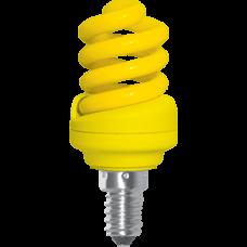 Лампа клл Spiral 12Вт Е14 Ecola жёлтый (100)