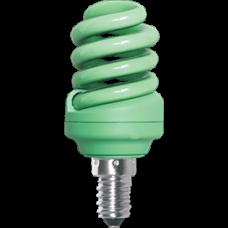 Лампа клл Spiral 12Вт Е14 Ecola зелёный (100)