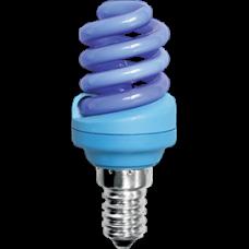 Лампа клл Spiral 12Вт Е14 Ecola синий (100)
