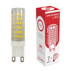 Лампа диодная G9 220В 7Вт 4500К 520Лм Экономка (100)