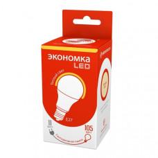 Лампа диодная A60 11Вт Е27 3000К 890Лм Экономка (10/100)