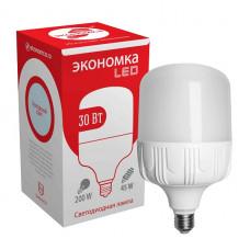 Лампа диодная HP 30Вт Е27/Е40 6500К 2650Лм d100x185мм Экономка (20)