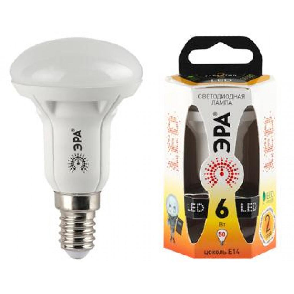Лампа диодная R50 6Вт Е14 4000К 480Лм Эра (10)