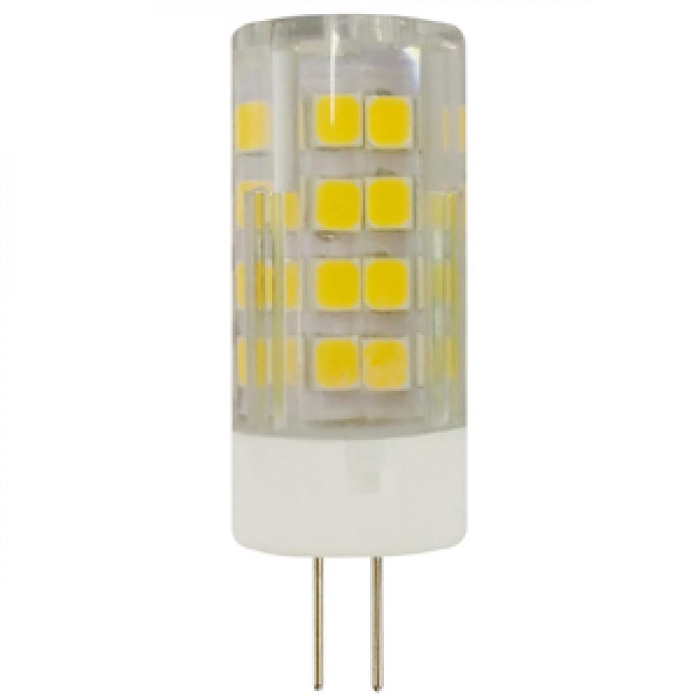 Лампа диодная G4 220В 7Вт 2700К 560Лм керамика Эра (100)