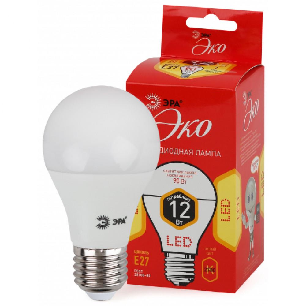 Лампа диодная A60 12Вт Е27 2700К 840Лм Эра Эконом (10)