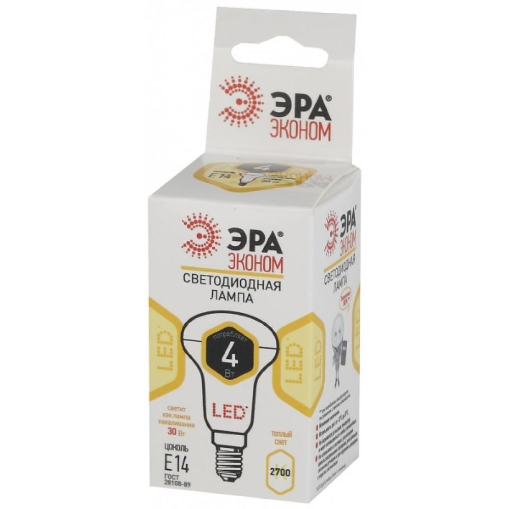 Лампа диодная R50 6Вт Е14 2700К 420Лм Эра Эконом (10)
