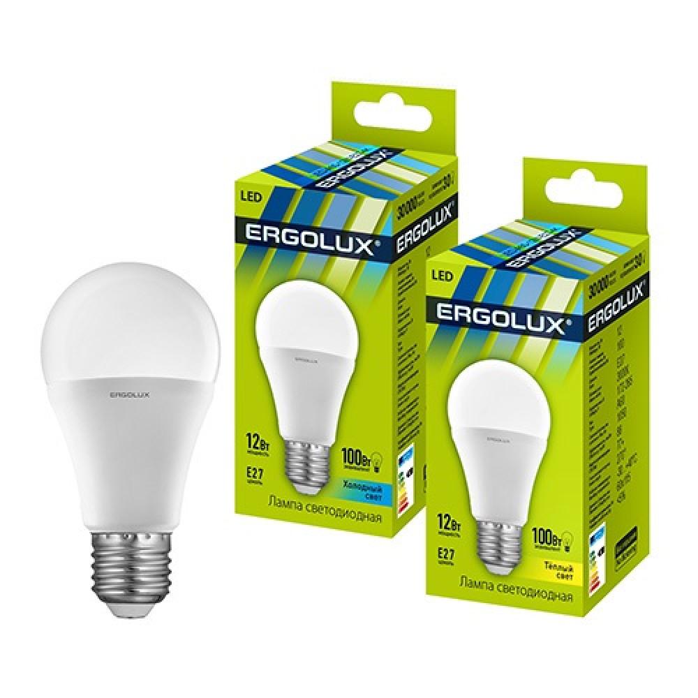 Лампа диодная A60 12Вт Е27 3000К 1050Лм Ergolux (10)