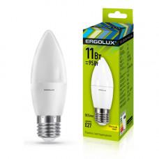 Лампа диодная свеча 11Вт Е14 6500К 925Лм Ergolux (10)
