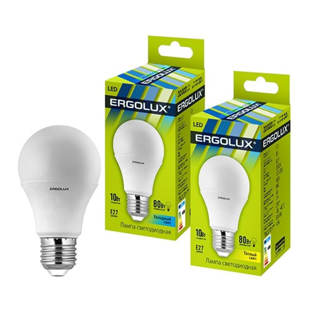 Лампа диодная A60 10Вт Е27 3000К 840Лм Ergolux (10)