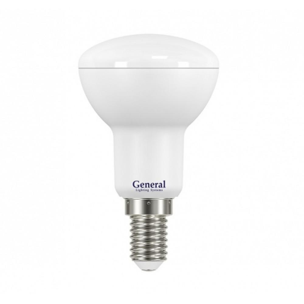 Лампа диодная R50 7Вт Е14 6500К 460Лм General (10/100)
