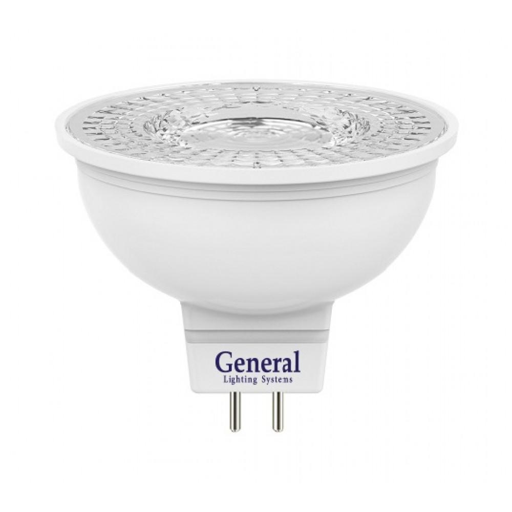 Лампа диодная MR16 GU5.3 8Вт 4500К 530Лм General диффузор (10/100)
