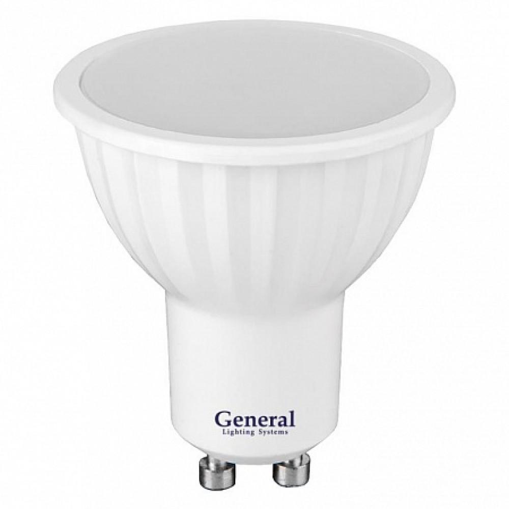 Лампа диодная MR16 GU10 7Вт 6500К 490Лм General (10)