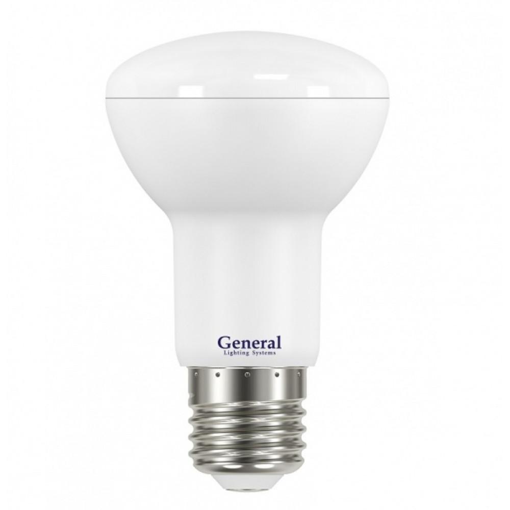 Лампа диодная R63 8Вт Е27 6500К 660Лм General (10/50)