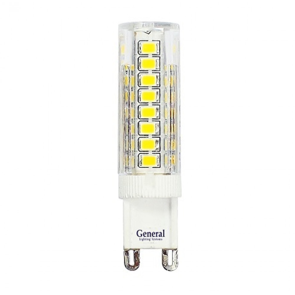 Лампа диодная G9 5Вт 2700К 315Лм General пластик (5/100)