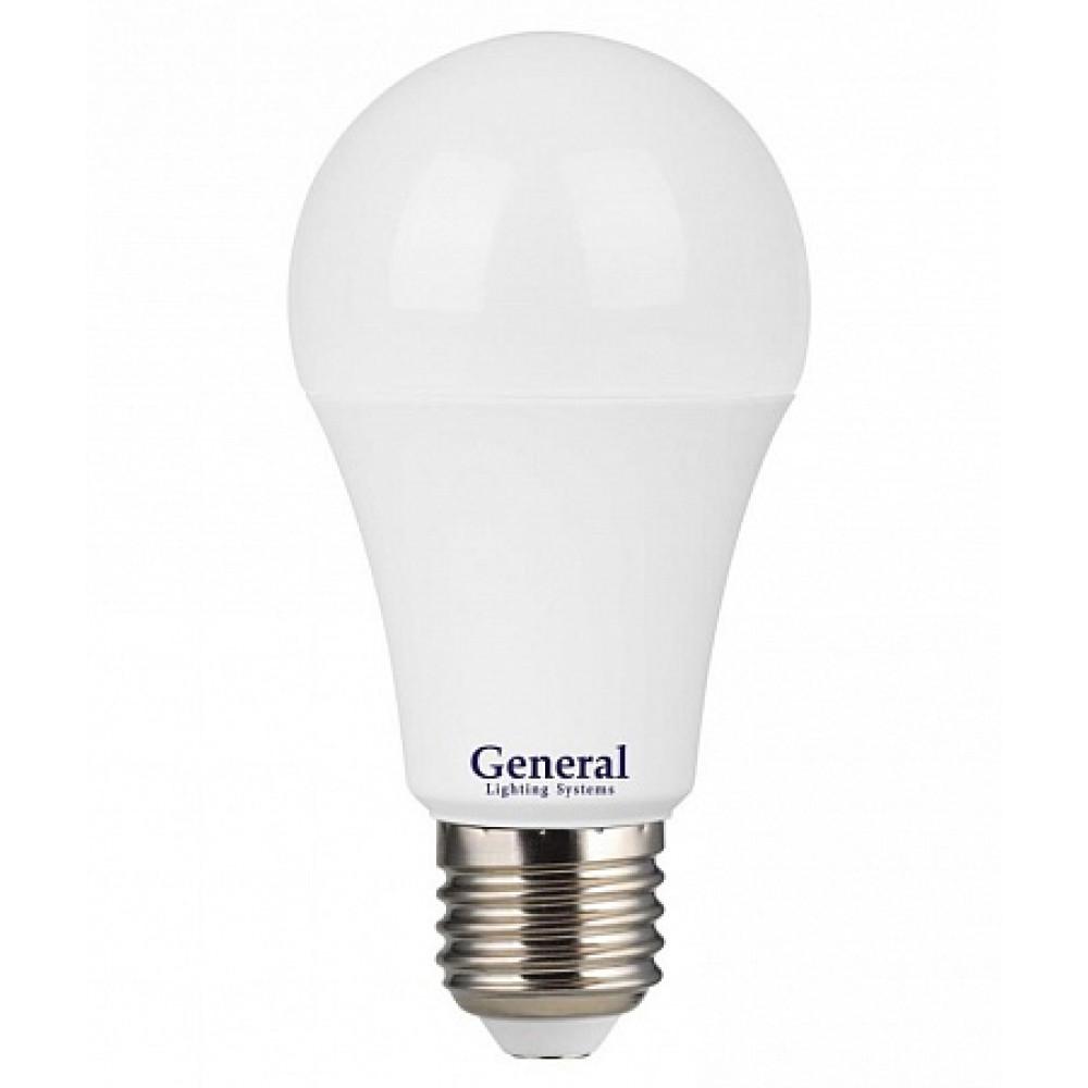 Лампа диодная A60 11Вт Е27 4500К 630Лм General Промо (100)