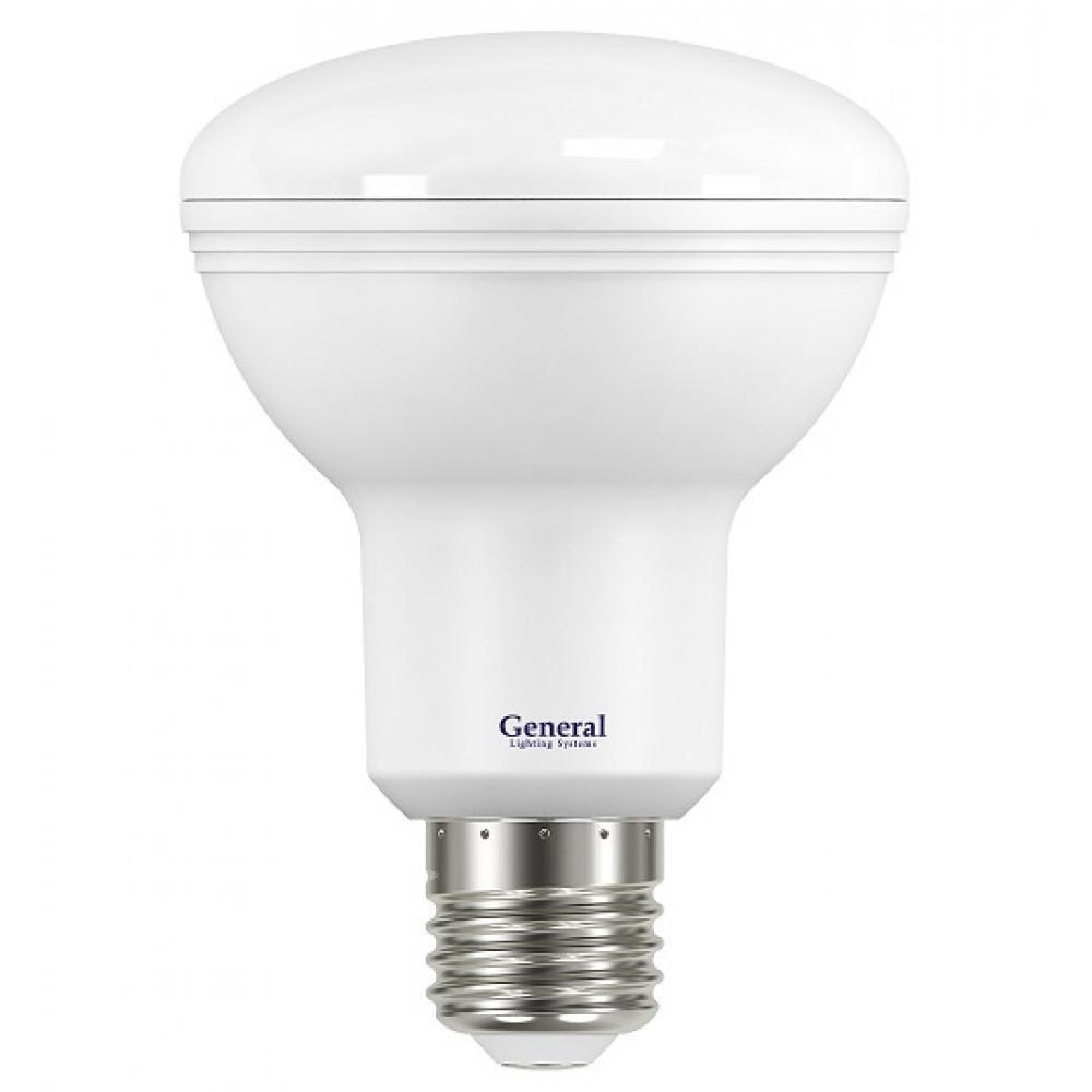 Лампа диодная R80 10Вт Е27 6500К 860Лм General (10/40)