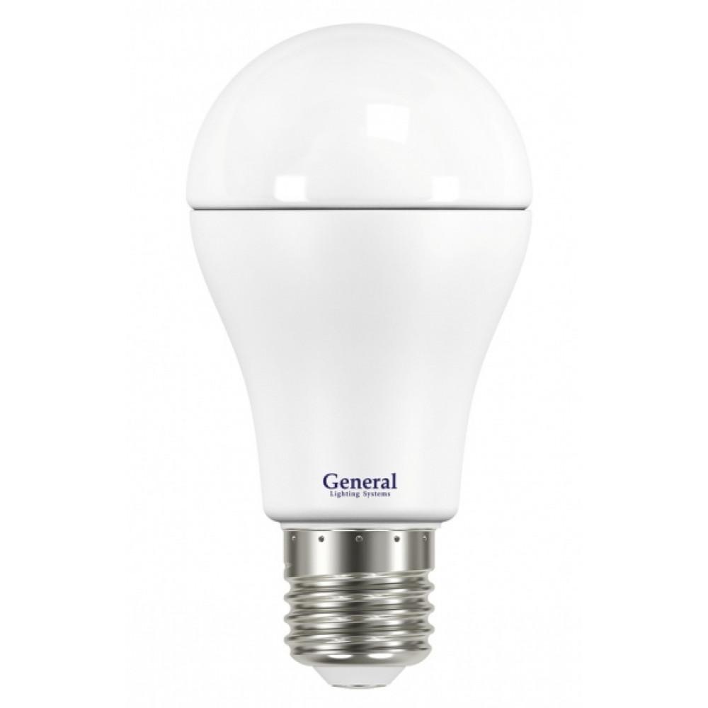 Лампа диодная A60 17Вт Е27 6500К 1390Лм General (10/50/100)