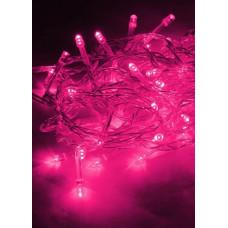 Гирлянда 120LED розовый 12.8м 8 режимов (50)