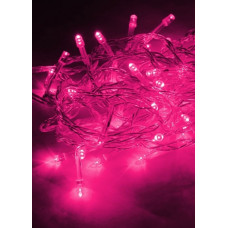 Гирлянда 100LED розовый 10.8м 8 режимов (50)