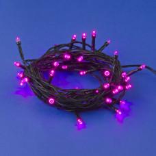Гирлянда Uniel 50LED розовый 5м провод зеленый IP20 (50)