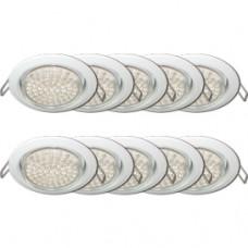 Светильник точечный GX53 белый Ecola H4 кd102 10шт/уп (10/100)
