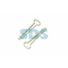 Дюбель-хомут плоский 5-10 белый 100шт Proconnect (80)