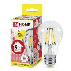 Лампа филамент A60 9Вт Е27 3000К 810Лм InHome (10)