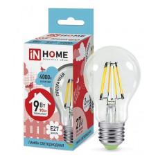 Лампа филамент A60 9Вт Е27 4000К 810Лм InHome (10)