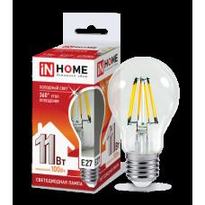 Лампа филамент A60 11Вт Е27 4000К 990Лм InHome (10)