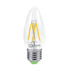 Лампа филамент свеча 5Вт Е27 4000К 450Лм InHome (10)
