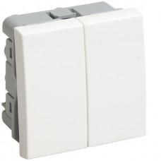Выключатель ВК1-22-00-П 2кл 2модуля IEK Праймер (10)