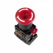 Кнопка IEK AE-22 Гриб 1з+1p фиксируемая 220В красный (10)